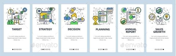 Web Site Onboarding Screens Company Business - Web Elements Vectors