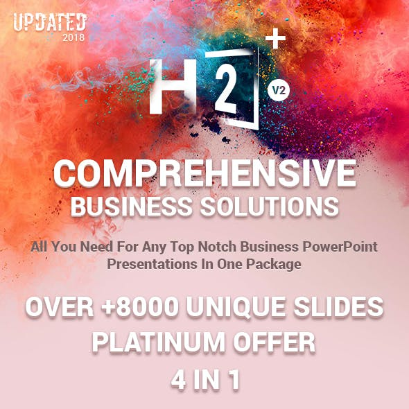 H2 Plus Comprehensive Business Solutions PowerPoint Templates Bundle