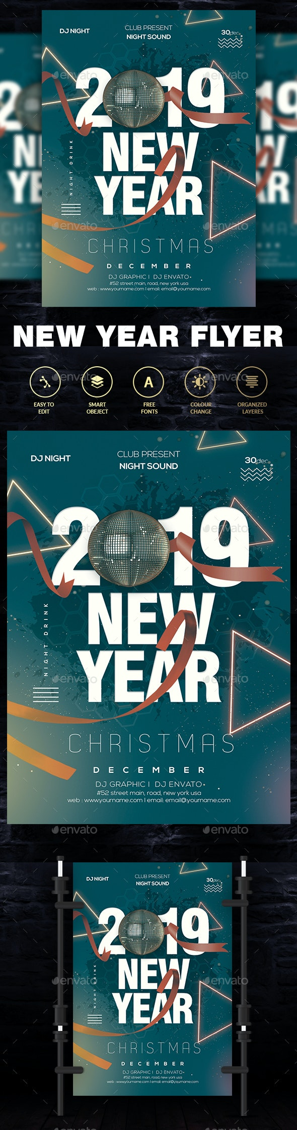 2019 New Year Party Flyer - Clubs & Parties Events