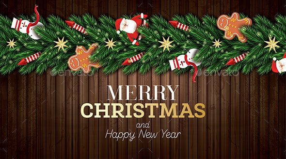 Christmas Greeting Card with Santa Claus - Christmas Seasons/Holidays