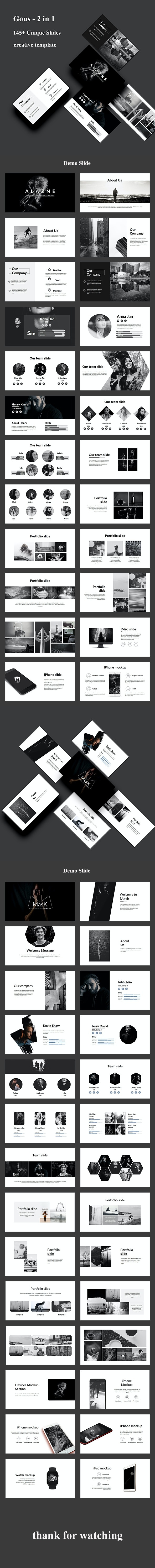 Gous 2 in 1 - Creative Powerpoint Template Bundle - Creative PowerPoint Templates