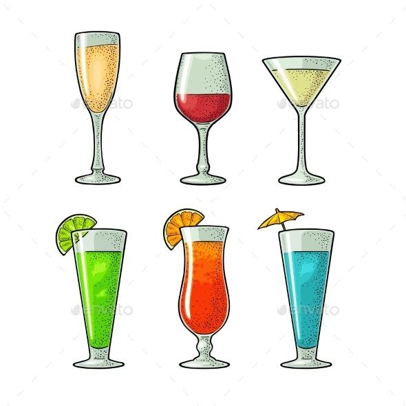 Alcohol Glass Set - Food Objects
