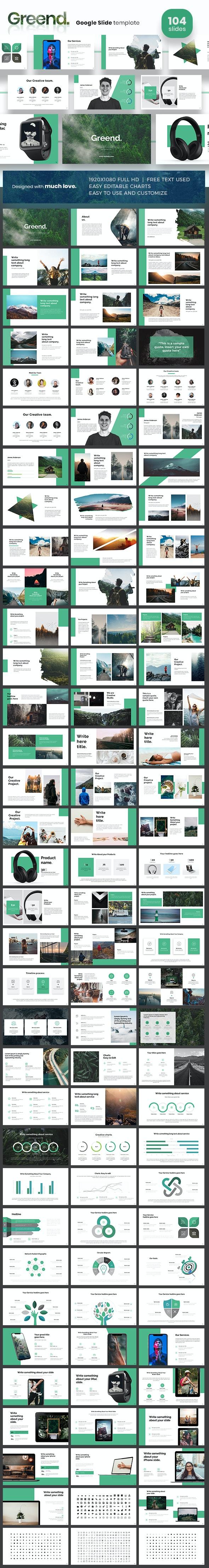 Greend Google Slides - Google Slides Presentation Templates