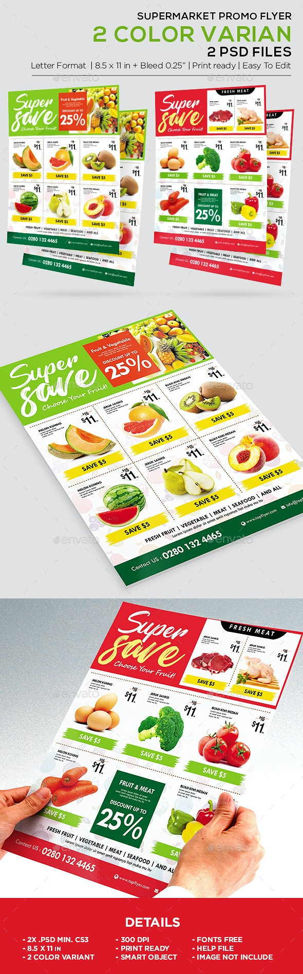 Supermarket Promotion Flyer - Product Catalog Flyer - Corporate Flyers