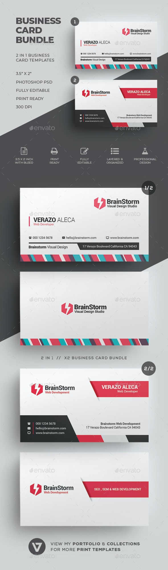 Business Card Bundle 59 - Corporate Business Cards