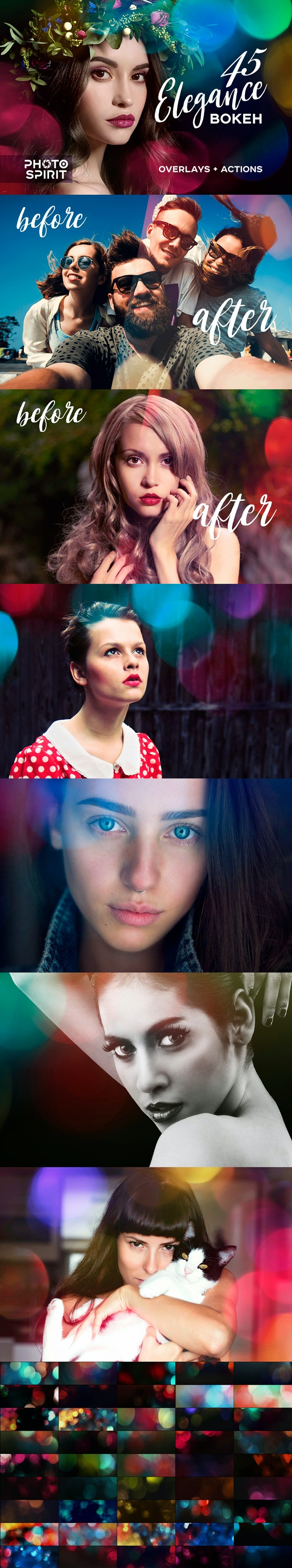 45 Elegance Bokeh Photo Overlays - Photo Effects Actions