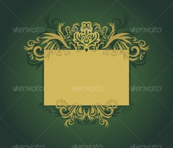 Golden floral frame - Backgrounds Decorative