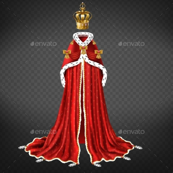 Medieval Monarch Ceremonial Cloth Realistic Vector - Man-made Objects Objects