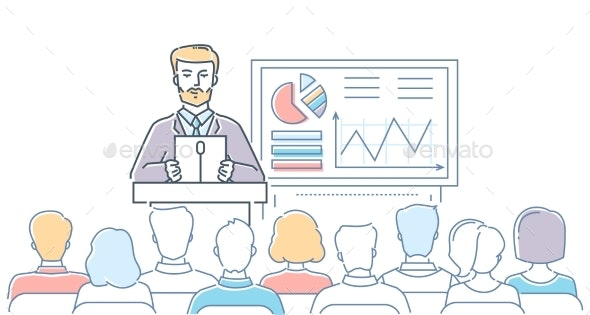 Business Conference - Modern Line Design Style - Concepts Business