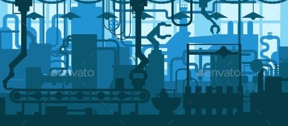 Factory Plant Conveyor Line Production Development - Industries Business