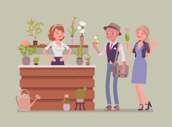 Flower Shop Lady Sells and Arranges Cut Flowers - Flowers & Plants Nature