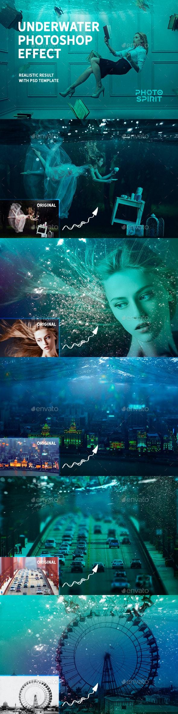 Underwater Photoshop Effect - Nature Photo Templates