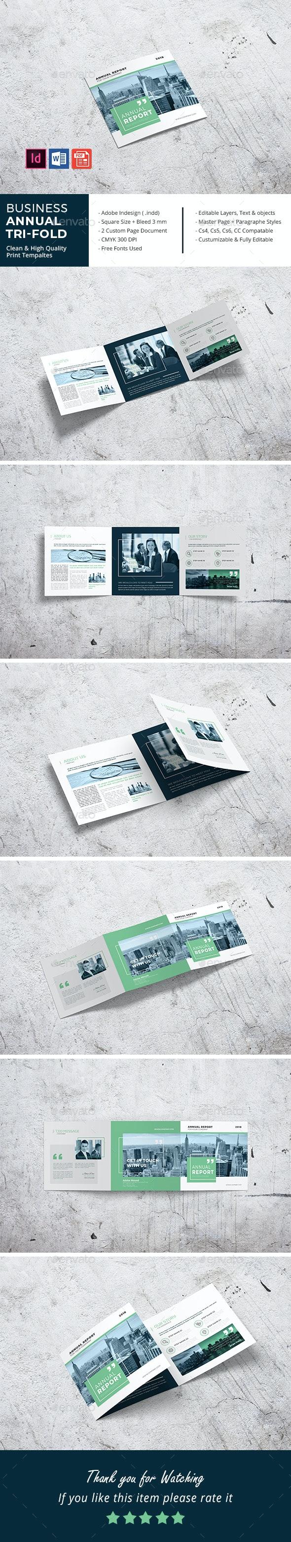 Squar Business Annual Tri-Fold - Corporate Brochures