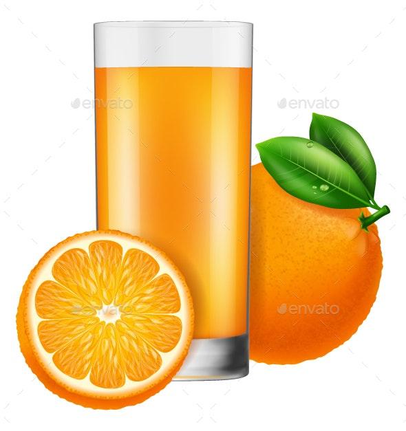 Orange Juice - Food Objects