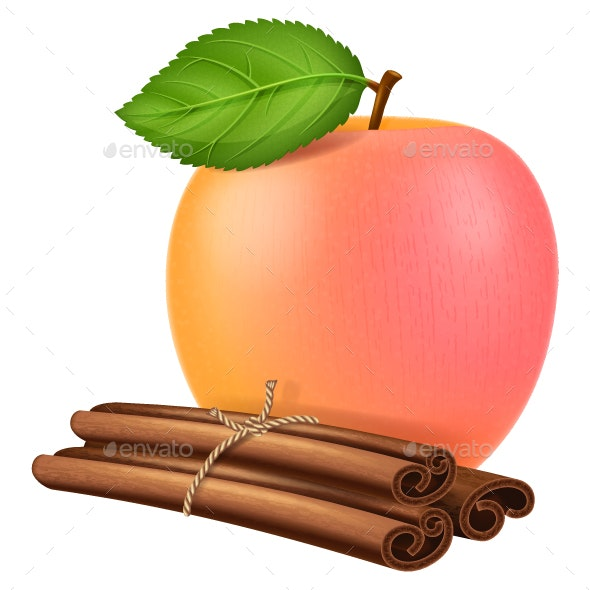 Apple and Cinnamon - Food Objects