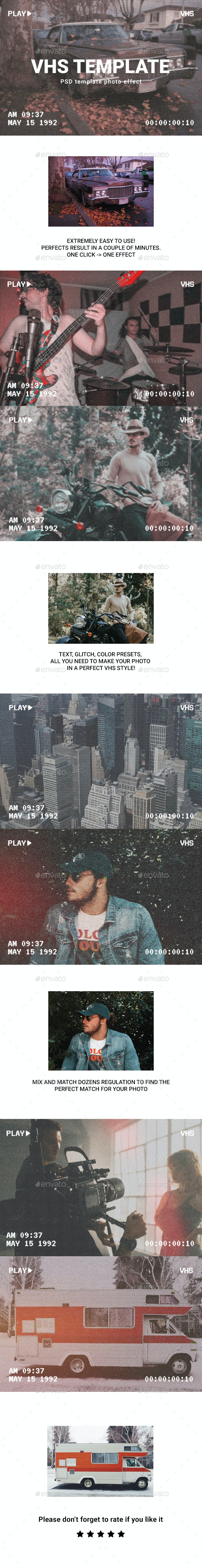 Vhs photo template - Photo Templates Graphics