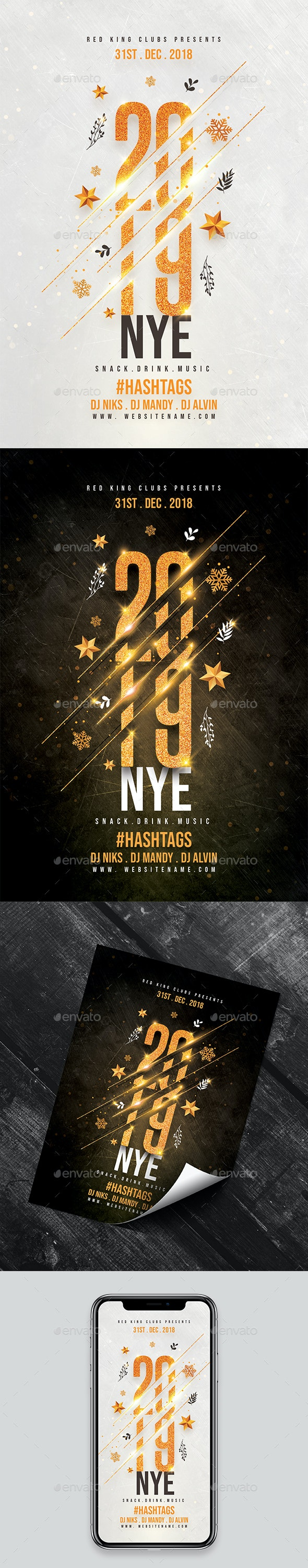 2019 NYE Celebration FLyer - Clubs & Parties Events