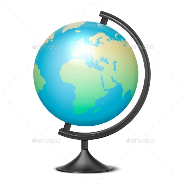 Vector Realistic Globe of Planet Earth with Map - Miscellaneous Vectors