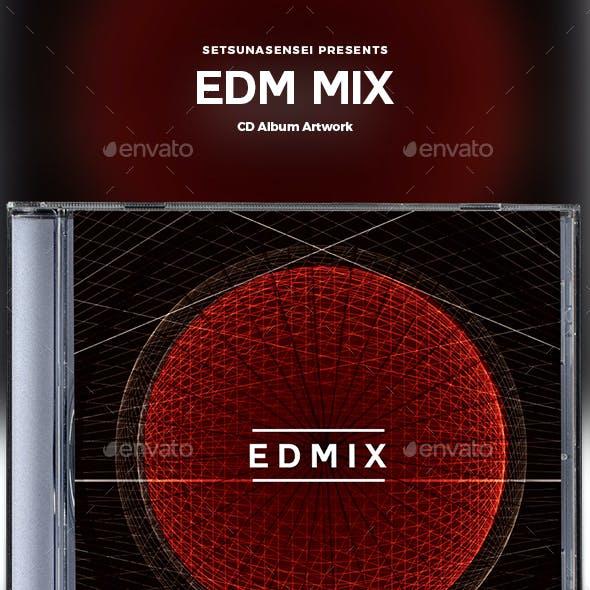 EDM Mix CD Album Artwork