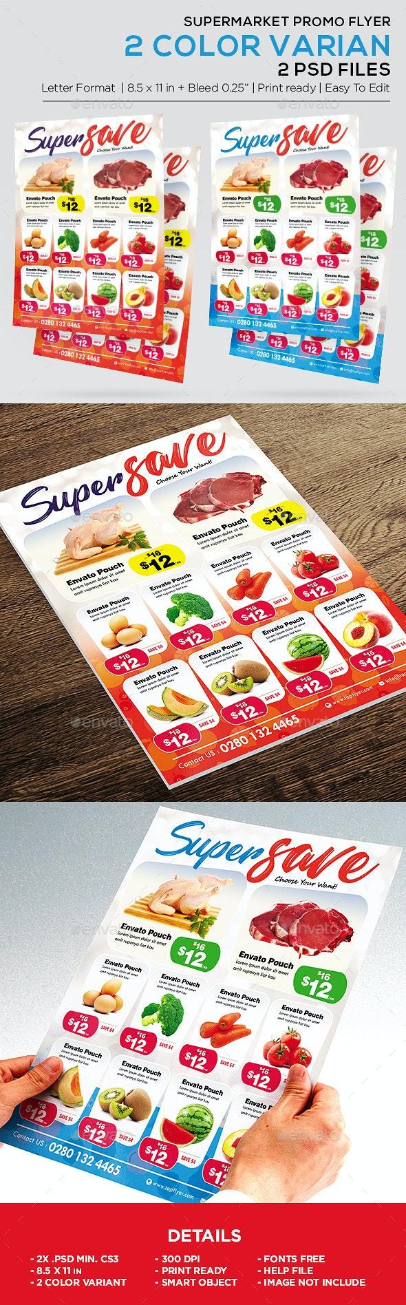 Supermarket Promotion Flyer - Product Catalog Flyer - Commerce Flyers