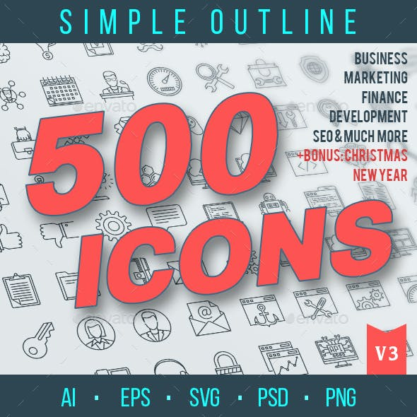 Outline Icons Pack
