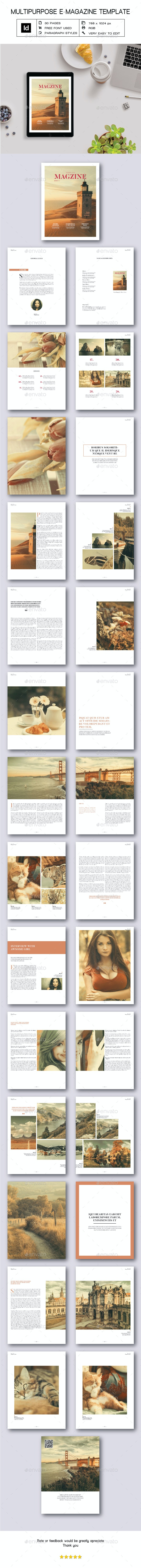 Multipurpose E-Magazine V - Digital Magazines ePublishing