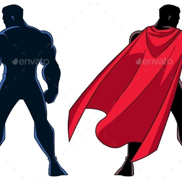 Superhero Back Silhouette