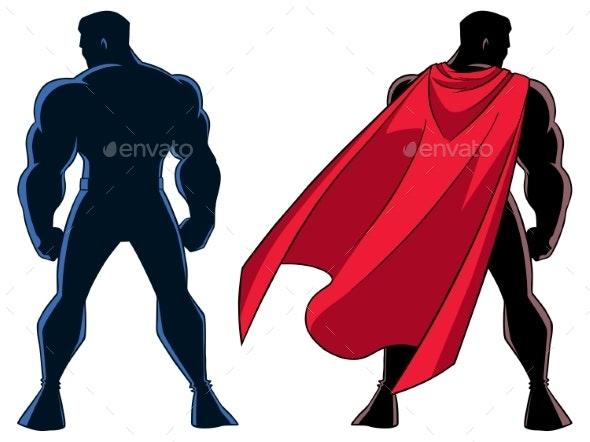 Superhero Back Silhouette - People Characters