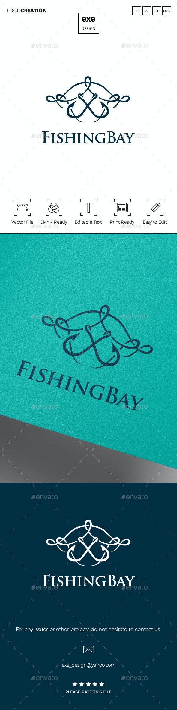 Fishing Logo - Crests Logo Templates