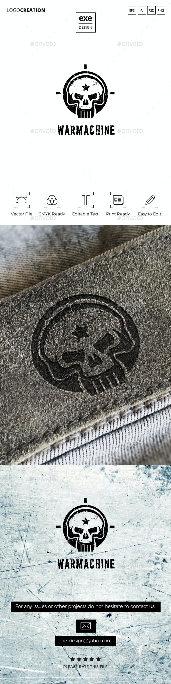 Skull Logo - Crests Logo Templates