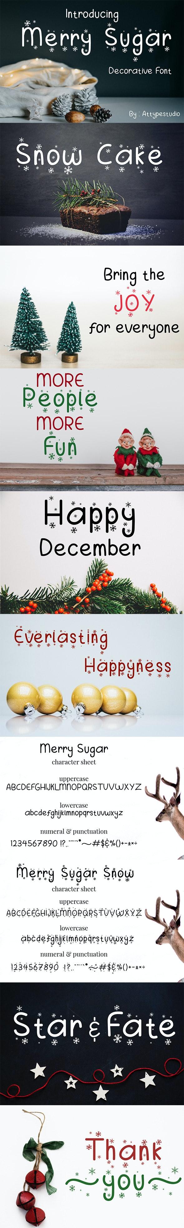 Merry Sugar - Holiday Decorative