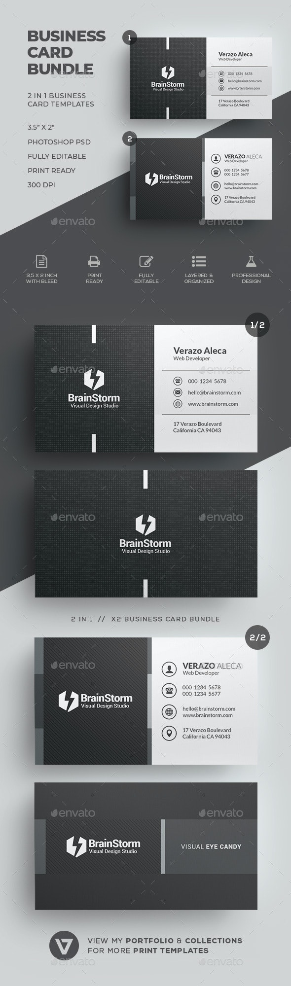 Business Card Bundle 62 - Corporate Business Cards