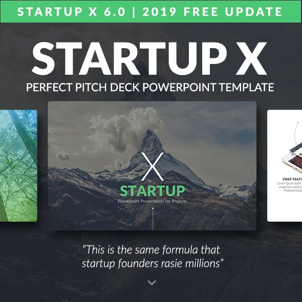 Startup X – Perfect Pitch Deck Powerpoint Template [2019 Update]