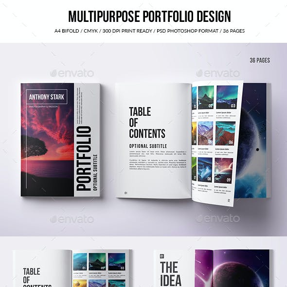 Multipurpose Portfolio Design - A4 - PSD - 36 Pages