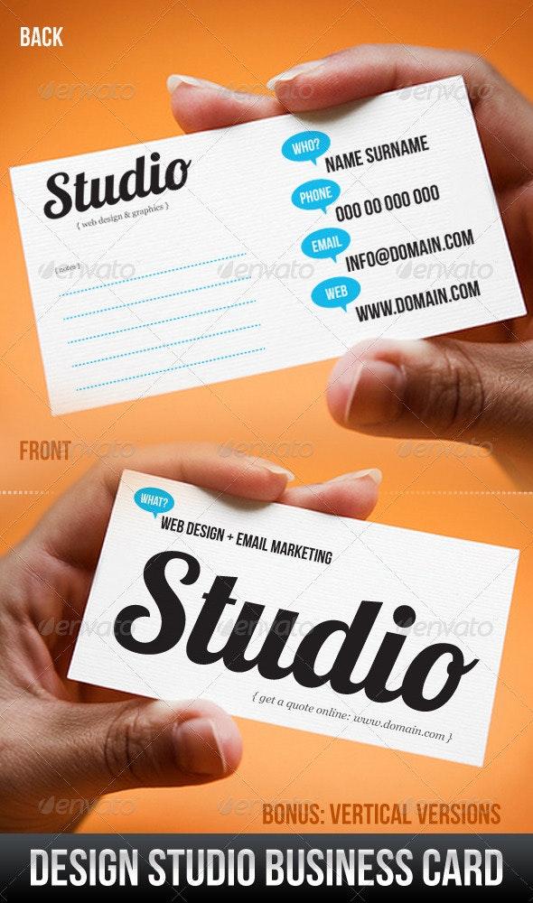 Design Studio Business Card - Corporate Business Cards