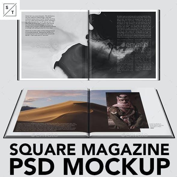 Minimal Square Magazine PSD Mockup Set