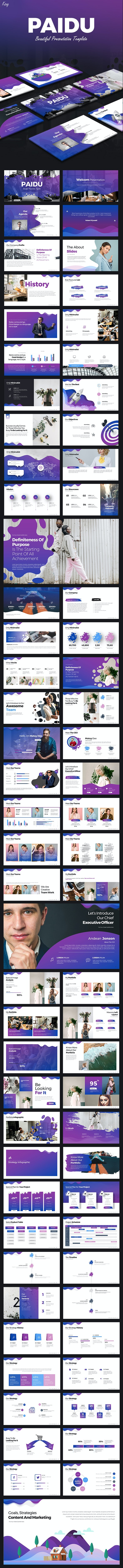Paidu  Keynote Presentation - Keynote Templates Presentation Templates