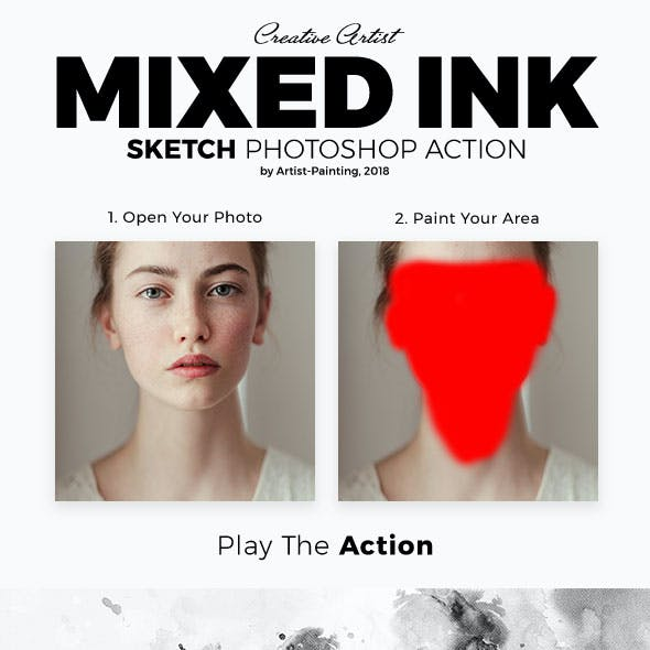 Mixed Ink Sketch Photoshop Action
