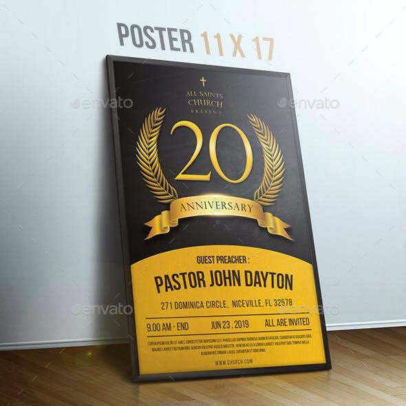 Church Anniversary Poster & Flyer