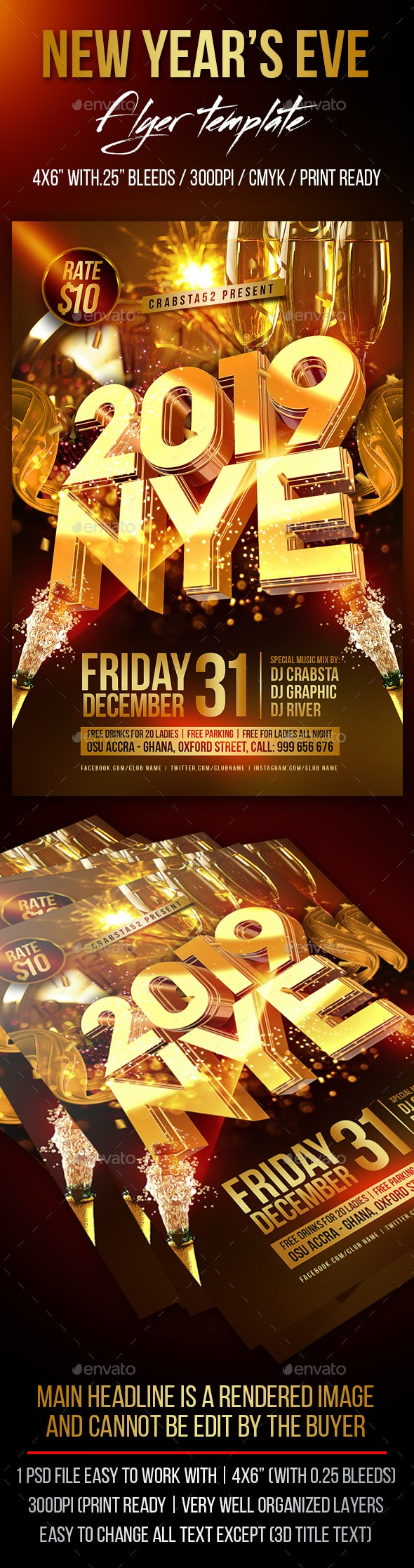 New Year's Eve Flyer Template - Events Flyers
