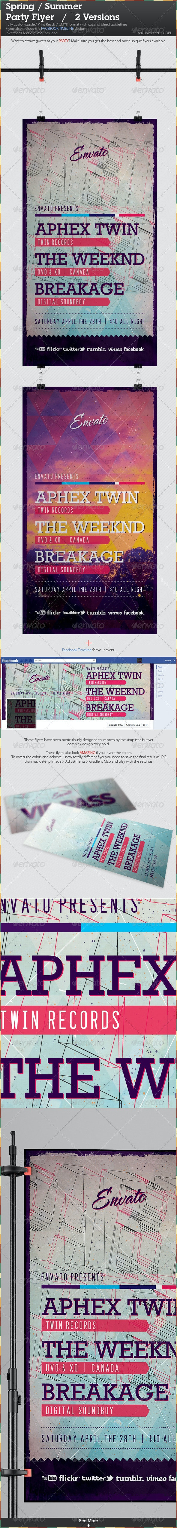 Spring / Summer Party Flyer Templates - Clubs & Parties Events