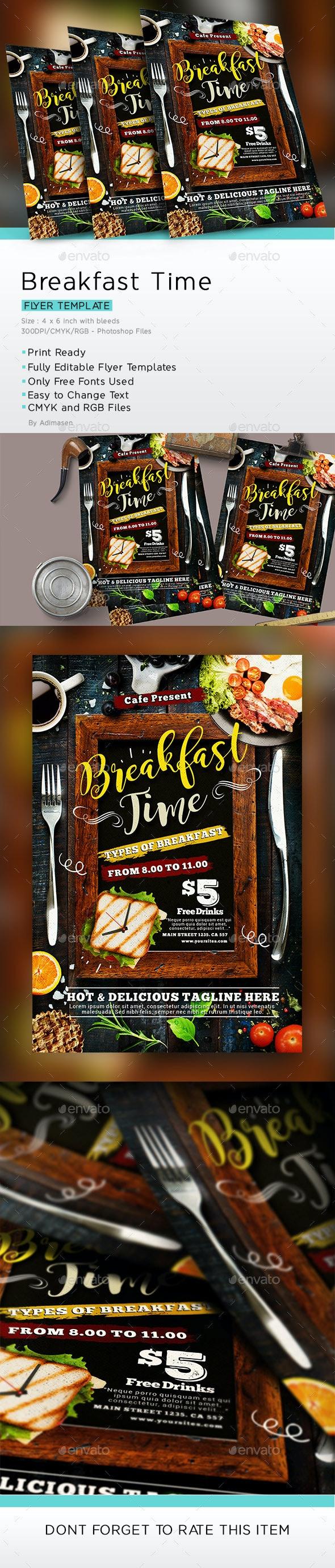 Breakfast Flyer - Restaurant Flyers