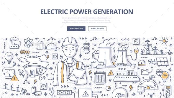 Electric Power Generation Doodle Concept - Miscellaneous Conceptual