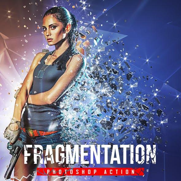 Fragmentation - Shattered Glass Photoshop Action