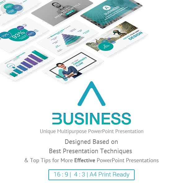 A Business - Multipurpose PowerPoint Presentation Template