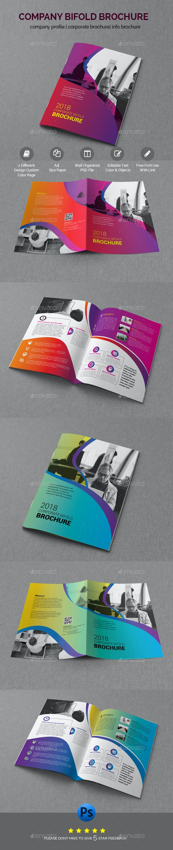 Professional Bifold Brochure Template - Brochures Print Templates