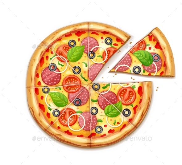 Fresh Pizza - Food Objects
