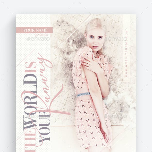 The World Is Your Runway Flyer Template