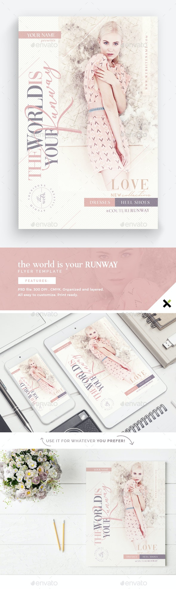 The World Is Your Runway Flyer Template - Flyers Print Templates