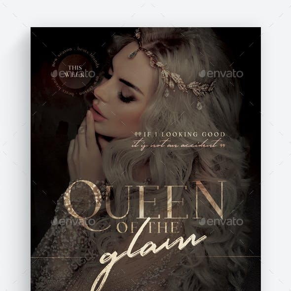 Queen Of The Glam Flyer Template